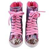 Gaddrt Puppenkleider Kleidung Zubehör für Glitter Doll Schuhe Riemen Stiefel für 18 Zoll Unsere Generation Für American Girl Doll Spielzeug