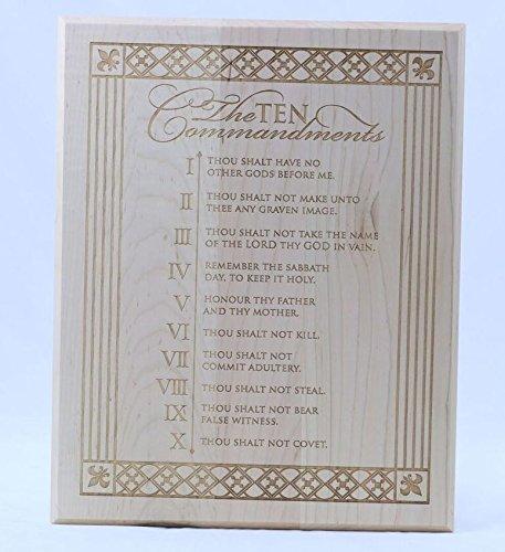 Die Zehn Gebote Massivholz Wandschild Einzugs Geschenke für Ihm Ihre Paar Wand Plaque 30,5x 38,1cm von Dayspring Meilensteine, Hartholz, maple, 12
