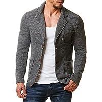 Burocs BR1685 Blazer voor heren, gemêleerd, sportief, slim fit, zwart, grijs