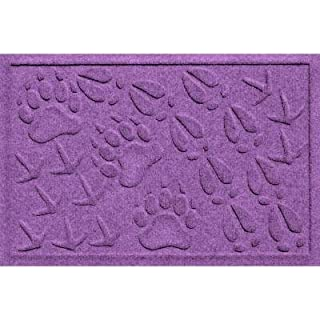 Bungalow Aqua Shield Animal Tracks violett 17,5in. x 26,5in. Pet mat flooring-20360681827