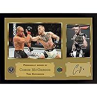 Conor McGregor UFC artes marciales mixtas autógrafo deporte boxeo filmcell factory con marco 002
