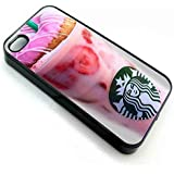 starbuck coffe pink favour, Iphone Case funda iPhone 5/5s black
