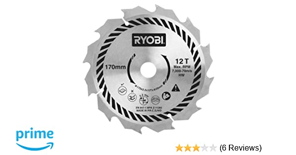 Ryobi csb170a1 circular saw blade for all 170 x 20 mm circular saws ryobi csb170a1 circular saw blade for all 170 x 20 mm circular saws 170 mm amazon diy tools greentooth Gallery
