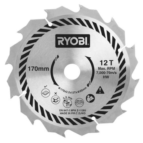 Ryobi csb170a1 circular saw blade for all 170 x 20 mm circular ryobi csb170a1 circular saw blade for all 170 x 20 mm circular saws 170 mm amazon diy tools greentooth Choice Image