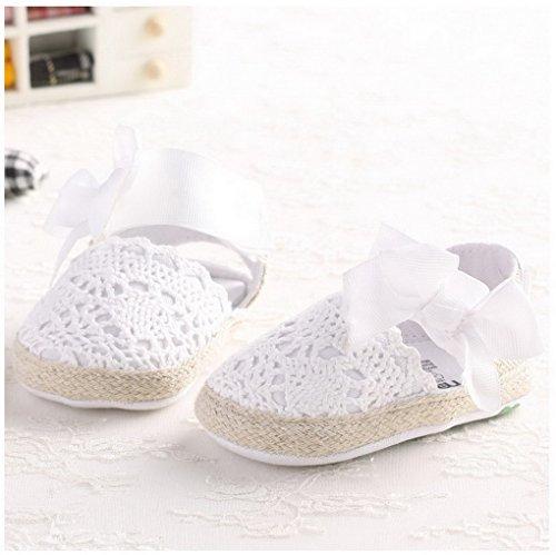 ACMEDE Babyschuhe Blume weiche Sandale Schuhe für Baby Mädchen Weiß 11cm Weiß