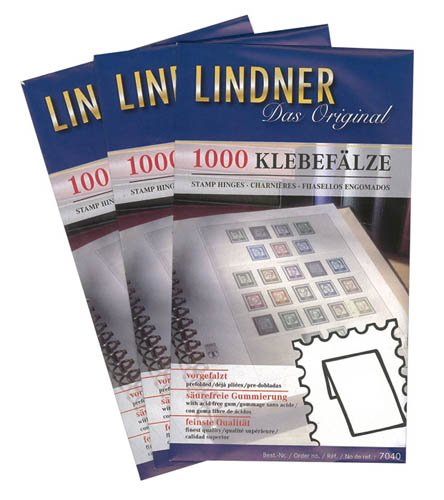 Lindner 7041 Klebefälze - 50 Tüten à 1000 Fälze