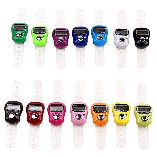 Uzinb Nützliche elektronische Reihenzähler-Finger-Ring Digit Stich Marker LCD Digital Handzähler Zähler mit justierbarer Finger-Ring-Bügel