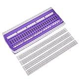 Gaeruite 50posizioni Cross Stitch Row Line Tool, aghi da cucito Holder, filo da ricamo, punto croce di filati, organizer portaoggetti per cucire strumenti ago linea organizzatore purple