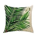 Outflower. Funda de cojín con diseño impreso de hojas y plantas tropicales (45x 45cm), para dormitorio, salón, oficina, coche o sofá, d, 45 x 45 cm