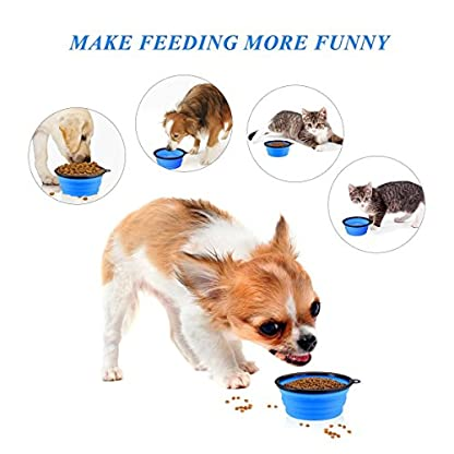 INMAKER Collapsible Dog Bowl Large, 2 Pack, Food Grade Silicone Dog Water Bowl, FDA Approved Dog Travel Bowl 7