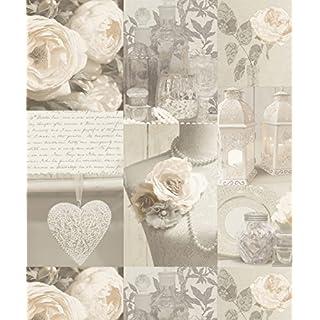 Arthouse Wallcoverings Charlotte Wallpaper Neutral 665203 Full Roll