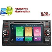 freeauto para Ford Focus II Android 6.0Pantalla Táctil Capacitiva de 7pulgadas coche reproductor de DVD Radio estéreo GPS con Canbus función de espejo de pantalla OBD264bits de ocho núcleos 2G RAM 32GB ROM Negro