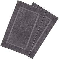 Tapis de bain en coton - lavable en machine (lot de 2, 53 x 86 cm, gris) par Utopia Towels