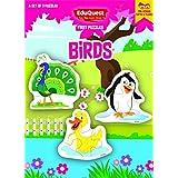 EduQuest - Jigsaw Puzzle - Birds - 2-4 Years Old - Set Of 3 Puzzles - 2,3,4 Piece Puzzles - Peacock (2 Pieces), Penguin (3 Pieces), Duck (4 Pieces)