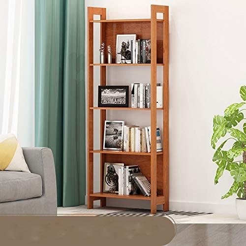 YST Bücherregal HX Bücherregal einfaches Regal mehrschichtiges Boden-Bücherregal Aufbewahrung Aufbewahrungsregal Mehrschichtiges einfaches Lagerregal (Color : Oak) - Oak Media Storage