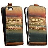DeinDesign Apple iPhone 5s Étui Étui à Rabat Étui magnétique People Wait 2