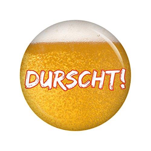 Kiwikatze® Fest - Durscht! 37mm Button Ansteckbutton Pin Oktoberfest Wiesn Volksfest für Dirndl oder Lederhose