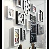 Fotorahmen Kollage Groß Foto-Wand-hölzernes Foto-Wand-europäisches Wohnzimmer-Restaurant-Foto-Rahmen-Wand Einfache kreative kreative Foto-Rahmen-Wand Kreative Bilderrahmen Wand ( Color : B )