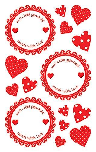 Avery Zweckform 59546Marmellata Etichette, rimovibile da parete adesivi-12 etichette per barattolo Mit Liebe gemacht