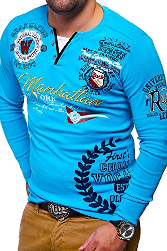 MT Styles 2in1 Longsleeve MANHATTAN T-Shirt ML-426 Türkis