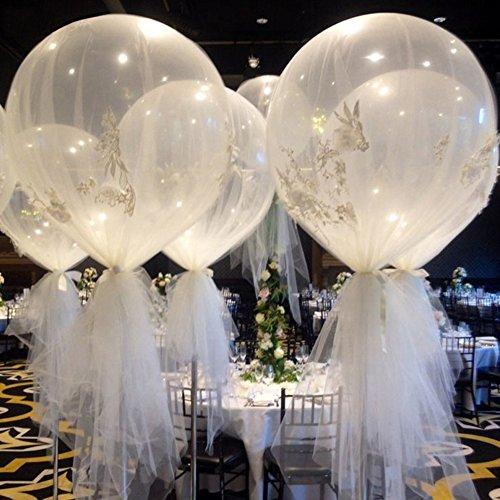 FEIDA Globos de látex grande transparente de 91,44 cm para decoración de fiesta, cumpleaños, boda, festival, transparente