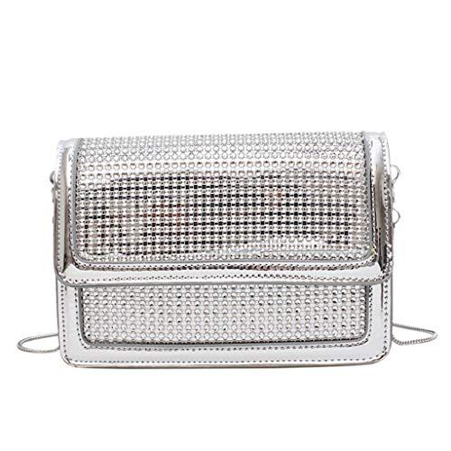 Cooljun Einfache kleine quadratische Allzwecktasche für Frauen Einzelne Schulter Messenger Bags Stilvolle Umhängetaschen Schultertasche Geldbörsen Handtaschen Messenger Bags