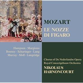 """Le nozze di Figaro : Act 2 """"Ah signori ... signor"""" [Antonio, Il Conte, Susanna, La Contessa, Figaro]"""