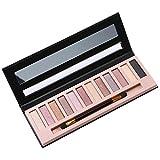 Leegoal (TM) Pro belleza ladrillo sombra de ojos, 12colores sombra de ojos paleta maquillaje Set