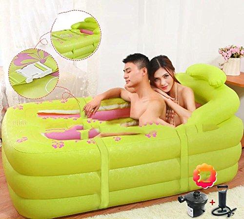 wenbi aoxue pratique Portable gonflable Baignoire gonflable de l'enfant La faltende Baignoire qlm de bain baignoire gonflable pour sauna et bain Submersible gonflable (couleur : vert) vert
