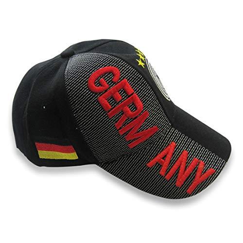 Lixure Baseballmützen Deutschland Baseball Hut mit 3D Stickereien Wappen von Deutschland Deutschland Verstellbares Unisex Polo Stil Einheitsgröße MEHRWEG -