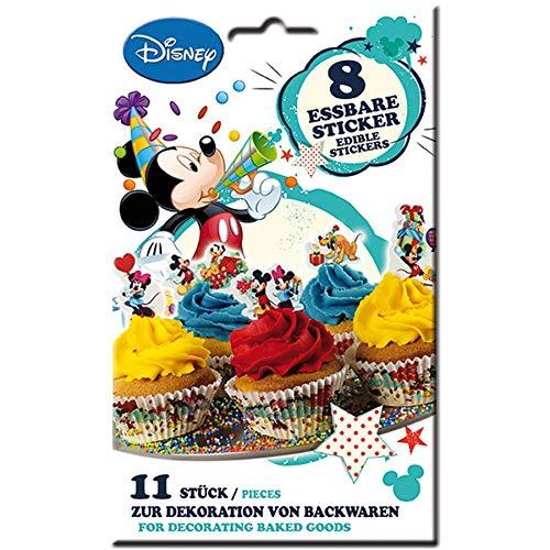 Essbare Zuckersticker Disney Mickey Mouse (8 Sticker/Paket)