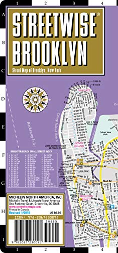 Streetwise Brooklyn Map - Laminated City Center Street Map of Brooklyn, New York -