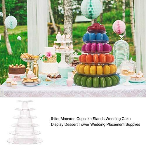 Cherishly 6-Tier Macaron Cupcake steht, Kuchen stehen Obstteller Cupcake stehen Hochzeitstorte Display Dessert Tower Hochzeit Platzierung liefert Kuchen Display Rack für Hochzeit Geburtstag first-rate
