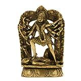 Figurine Ma Kali Durga Hindu Bildhauerei und Statue Indian 10 X 3,8 X 16,5 cm - Dekoration Wohnung Modern Figuren
