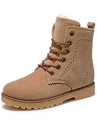 3cf418676a7 Hombres Mujer Unisex Botas de Invierno Botas Martín Calentar Botines  Impermeables Botas de Nieve Botas Antideslizantes Zapatos de…