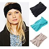 Butterme Mode Mädchen Handgefertigt Crochet Bogen Turban Strick Stirnband Damen Frauen Winter Ear Warmer Haarband Headwrap Gehörschutz