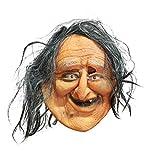 Amosfun Máscara de Halloween Horror Feo Vieja Señora Máscara de Gelatina Disfraces de Halloween Fantasma Festival Atmósfera Suministros 1 Unid