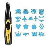 Electric Carving Haarschneidemaschine Barbers Schere für Erwachsene Kinder, USB aufladbare Brief Muster geschnitzt Cutter Hair Trimmer