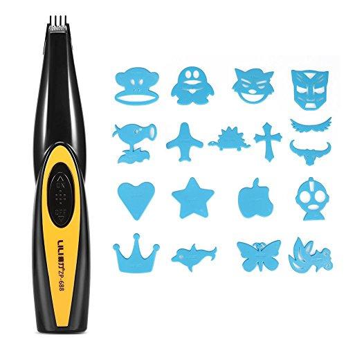 Electric Carving Haarschneidemaschine Barbers Schere für Erwachsene Kinder, USB aufladbare Brief Muster geschnitzt Cutter Hair Trimmer -
