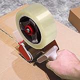Jago Paket-Klebeband Transparent 6 Rollen / 66m x 55mm, Extra Stark und Breit | Packband, Paketband, Klebebänder