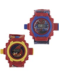 Vishwakarma Enterprises Combo Of Angery Birds And Spider Man 24 Images Projector Watch