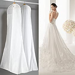 Gabkey Vestido de novia cubierta – transpirable tela no tejida, protección contra el polvo y la suciedad