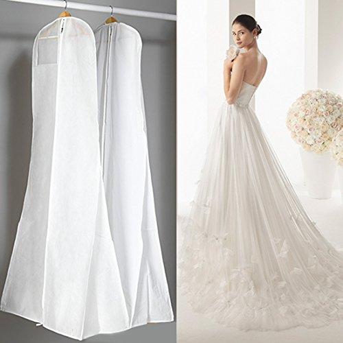 Gabkey Weiß Farbe non-wowen Anti-Staub Hochzeitskleid Kleidersack Displayschutzfolie Abdeckung mit...