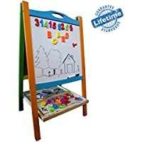 Vault - Elk And Bear: Handpicked Elk & Bear Double Sided Magnetic Whiteboard Painting Easel For Small Kids And Toddlers