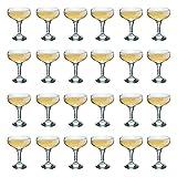 Trinken Rink Vintage Glas Champagner Untertasse - 200ml - Packung mit 24