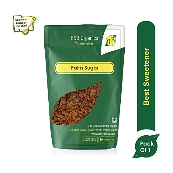 B&B Organics Palm Sugar, 500 g