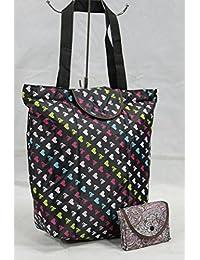 Folding Reusable Women Fashion Bags Travel Portable Folding Pouch Waterproof Shoulder Bag Street Shopping Bag...