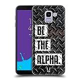 Head Case Designs Be The Alpha Fitness Typographie Ruckseite Hülle für Samsung Galaxy J6 / On6 (2018)