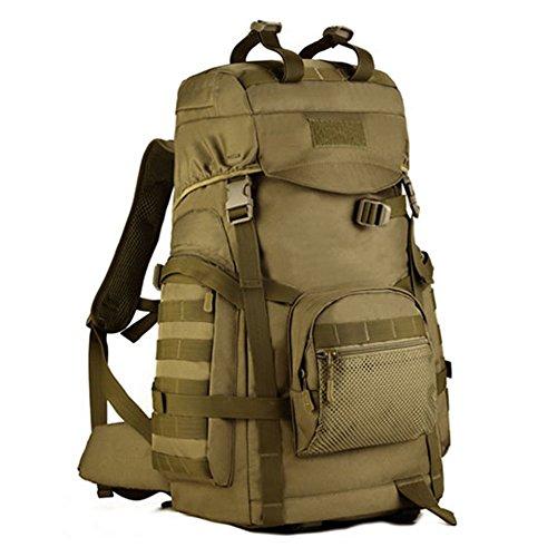 Imagen de huntvp  de asalto táctical  militar  gran  de hombro impermeable 60l para las actividades aire libre senderismo caza viajar color marrón