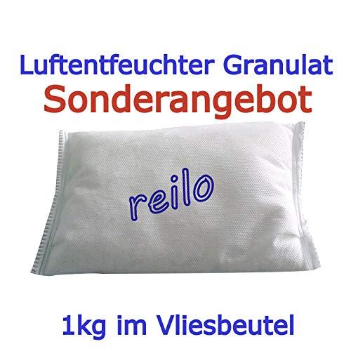 10x 1kg Luftentfeuchter Granulat im Vliesbeutel, für Raumentfeuchter Boxen 900g - 1,2kg, einzeln verpackt in Polybeutel